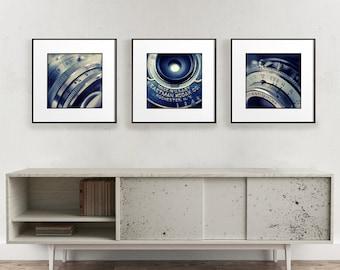 Square Print Set, Camera Wall Art, Set of 3 Prints, Large Prints Set, Vintage Camera Art, Retro Print Set, Vintage Photography Decor,