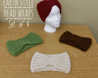 Earth Head Wraps - Set of 4/Made to Order