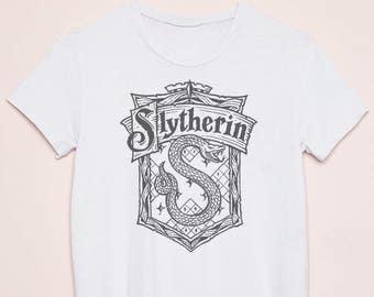 Harry Potter Slytherin Theme Printed T-Shirt