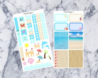 Beach Personal Kit || Planner Stickers