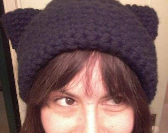 Black-Cat Kitty Hat
