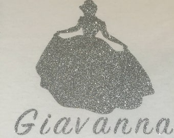 Custom Girls/ Baby T- Shirt, Onesie,Princess, Disney, Sparkly