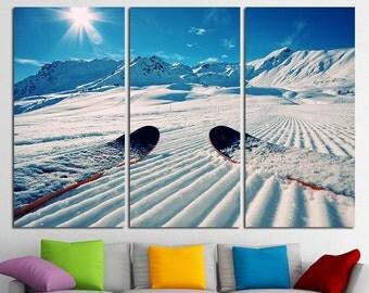 Ski canvas art Ski Photo Ski Wall Art Ski Poster Ski Print Ski Wall Decor Ski Art Winter Sport Winter Photography Winter Wall Decor