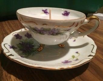 Antique Tea Cup Candle