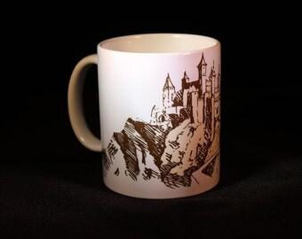 Medieval castle printed mug design 2