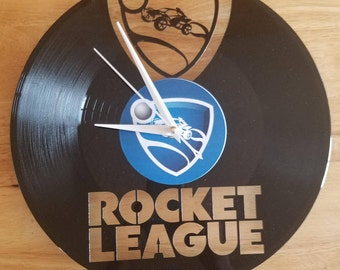 Rocket League Video Game themed Vinyl Album Record Clock made in the > USA < with FREE Shipping!