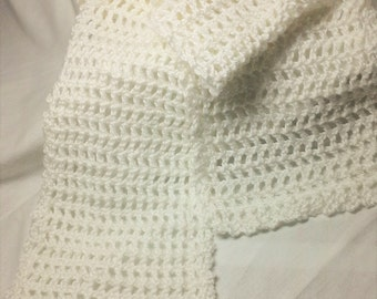 Lacy Oh So Soft Crocheted Scarf!