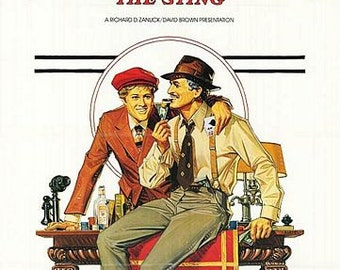 Vintage The Sting Movie Poster A3 Print