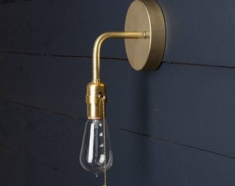 Brass Wall Sconce - Pull Chain