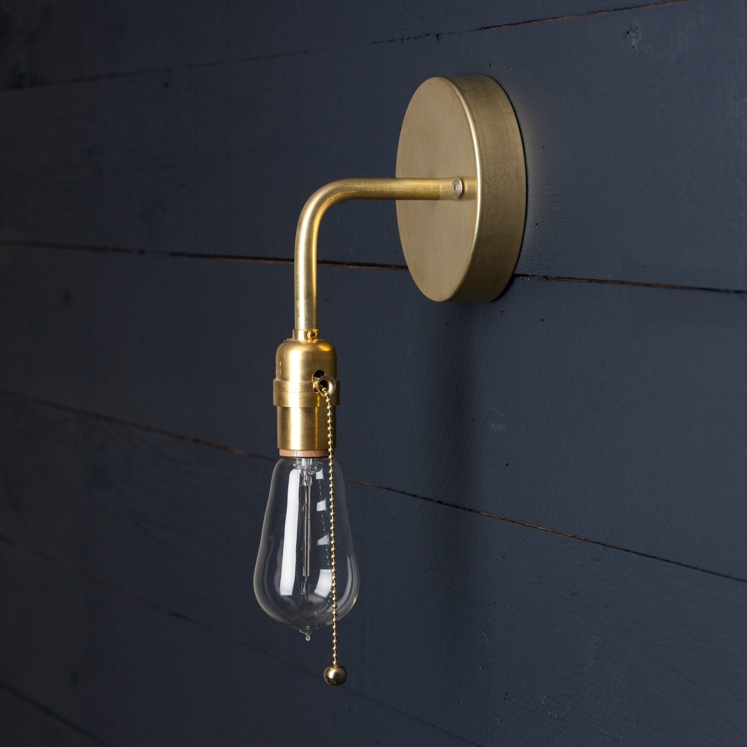 Wall Sconces Pull Chain : Brass Wall Sconce Pull Chain