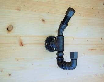Coat rack industrial cast iron double hook