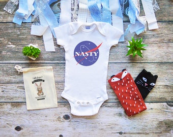 Cute Nasty Woman Onesie for Babies - NASA Baby Shirt - Feminists Baby Clothes - Baby Shower Gifts for Girls - Girl Power Feminism - M283