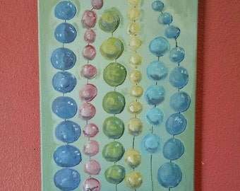 Bubbles, Beads, or Berries, Whimsical Painting, Painting on Canvas, Abstract Art, Home Decor