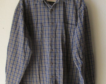 Vintage Abercrombie and Fitch, Vintage Plaid Shirt, Vintage Men's Shirt, Vintage Shirt, Plaid Shirt, 90's Men's Shirt, 90's Grunge,90s Shirt
