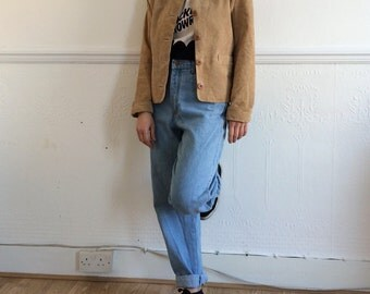 Vintage suede jacket in camel colour. Size M/L.
