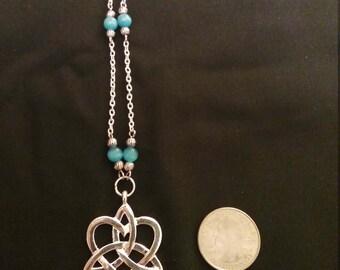 Silver Chain Celtic Pendant Necklace