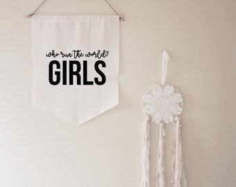 Who Run The World? Girls // gift // housewarming // for her // beyonce // women // feminism