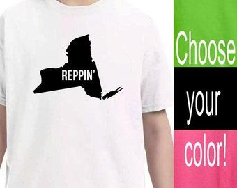 Youth Clothing, New York State Shirt, Kid Toddler Shirts, Baby Onesie, Unisex kids, Pink Lime Green Black White Shirts, Kid tshirt