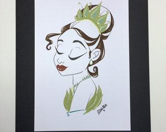 TIANA (Original Gouache painting)