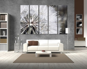 Canvas Art  Dandelion Print Large Canvas Print Nature Stretched Canvas Interior Décor Blowball Wall Art Gift for Home Decoration Multipanel