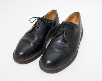 Vintage Dr. Martens Black Shoes -- Size 10 Made In England