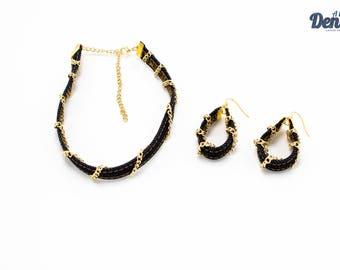 Denim Necklace / Denim Choker / Choker / Denim Accessories / Denim Jewelry / Denim Bracelet / Denim Cuff / Denim Earrings