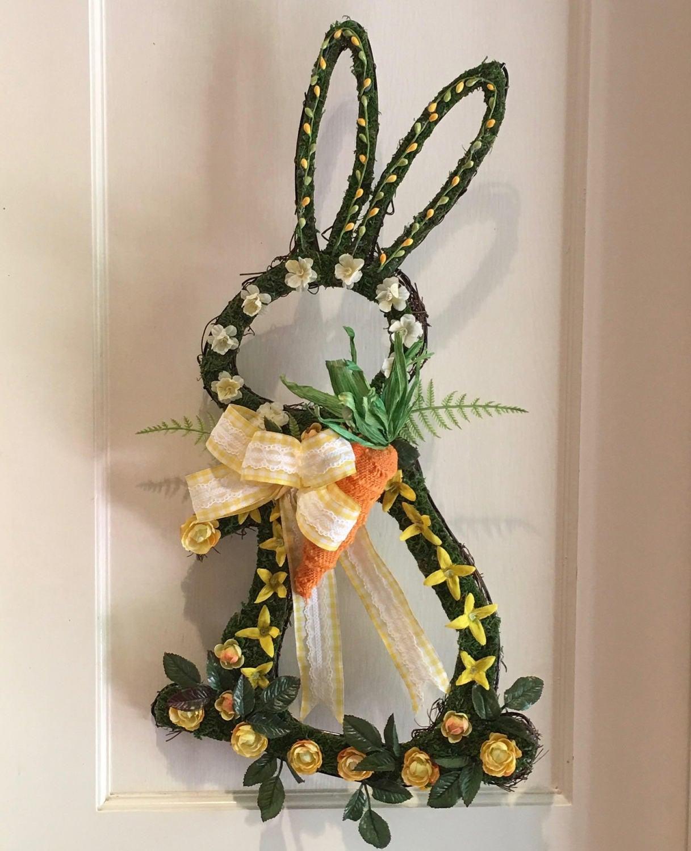 Easter Wreath Bunny Spring Front Door Decoration