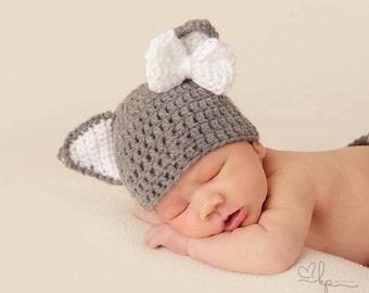 Woodland Newborn, Newborn Photography, Newborn Wolf Hat, Newborn Photo Prop, Woodland Baby Hat, Woodland Newborn Hat, Photography Prop, Baby