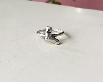 Missing Sock Ring, Sterling Silver, made to order