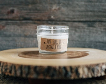 Grapefruit & Thyme - Scented Soy Candle 3oz