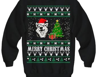 Merry Christmas Husky, Husky Christmas Sweater, Ugly Husky Christmas Sweater, Husky Christmas, Siberian Husky Gift