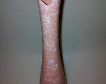 Shawnee_ bud vase, pink/white, made in USA, CZ-D2