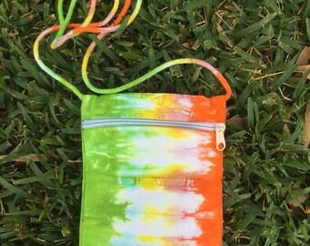 Cross body bag / Handmade tie dye