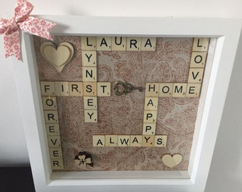 Personalised New/First Home Box Frame