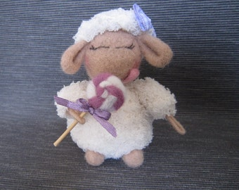 sheep, cotton candy,lollipop, amigurumi,fluffy sheep,crochet animal,needle felted ,plushy,home decor, ready to ship,gift