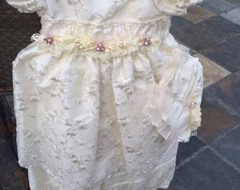 White Ivory Baptism Gown, Naming and Blessing, Christening