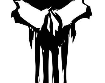Punisher Style Skull Decal