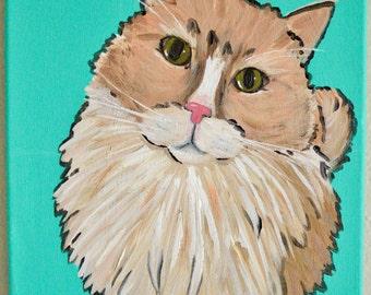 Custom Pet Portrait, Pop Art, Dog, Cat, Acrylic Painting, Animal Art, Hand painted, Canvas