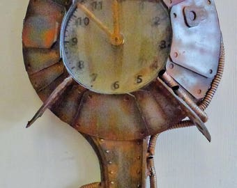 steampunk rusty clock