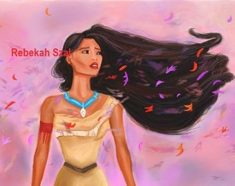 Pocahontas print , colours of the wind