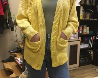 Vintage 80's ribbed cardigan