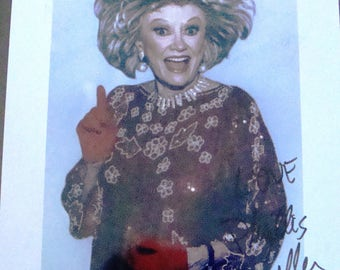 HAND-Signed Rare* Phyllis Diller Color Photo ~ Mint Condition; FREE Shipping!  Photo and autograph with JSA certification