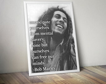 Bob Marley Inspirational Motivational Poster