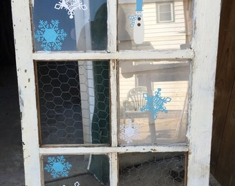 Let it snow decorative window with picture holder