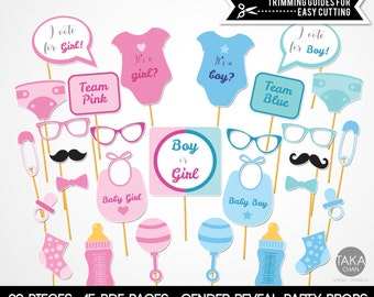 Gender Reveal Photo Booth Props, Gender Reveal, Gender Reveal Party Supply, Gender Reveal Party Props