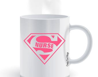 Super Nurse - Nurse Coffee Mug, superman, super hero