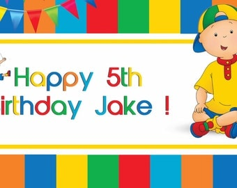 Caillou Birthday Banner