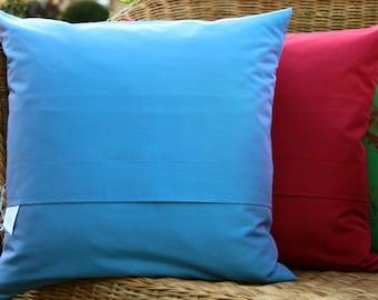 Throw Pillow Cover 16x16/ blue/ Designer fabric