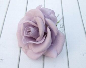 Purple Rose Hair Pin - Violet Rose Flower Hairpin - Flowers Hair Accessories - Handmade Flowers Hair Decoration - Lavender Rose