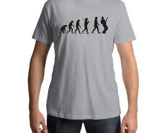 Guitar T Shirt - Evolution - Mens T Shirt - Cool Music Tee - Music T Shirt - Guitar Lover Gift - Guitar Tee